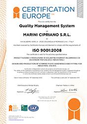 certification iso 9001 marini cipriano